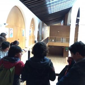 Alumnado de cuarto curso visitando las instalaciones del conservatorio de Jerez
