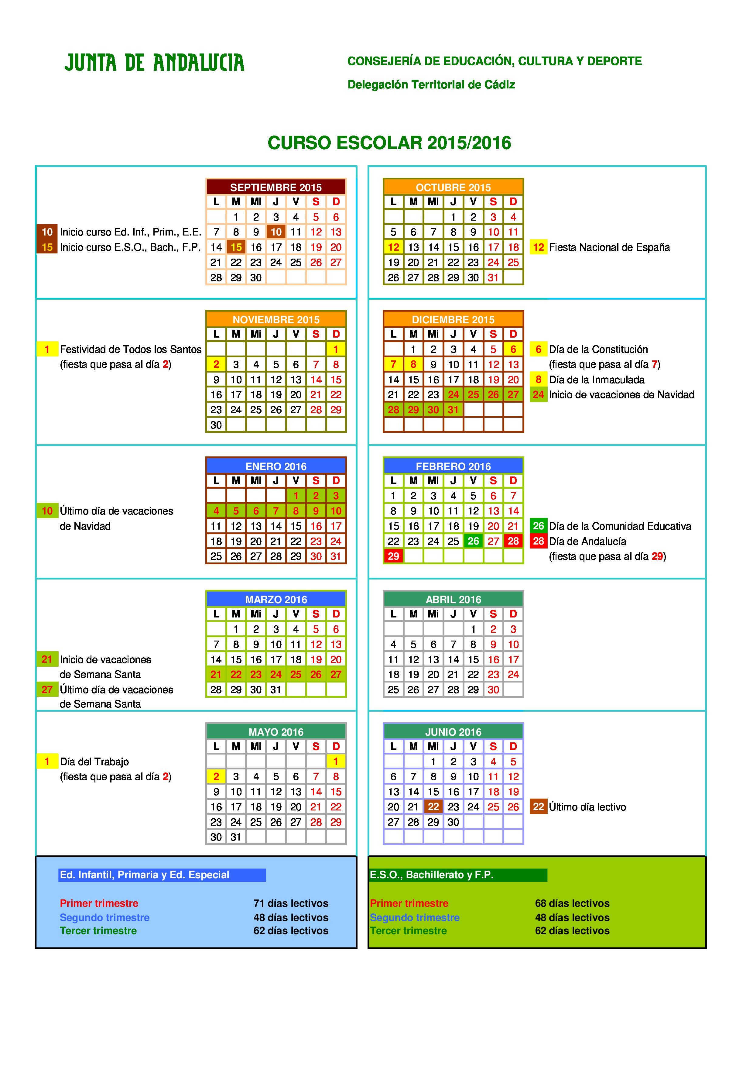 calendario 2015 2016