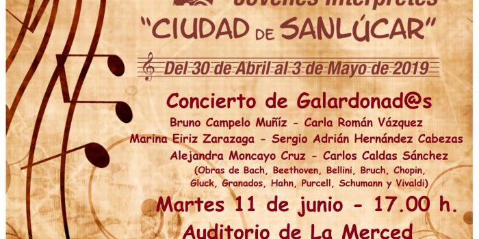 cartel concierto galardonados