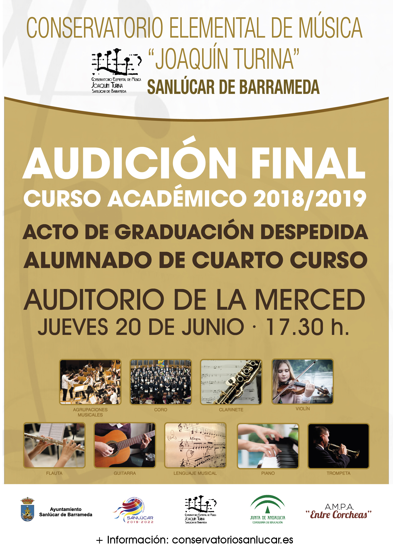 cartel AUDICION FINAL CURSO 21-01