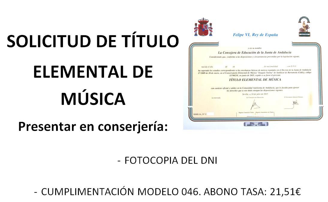 SOLICITUD DE TITULO